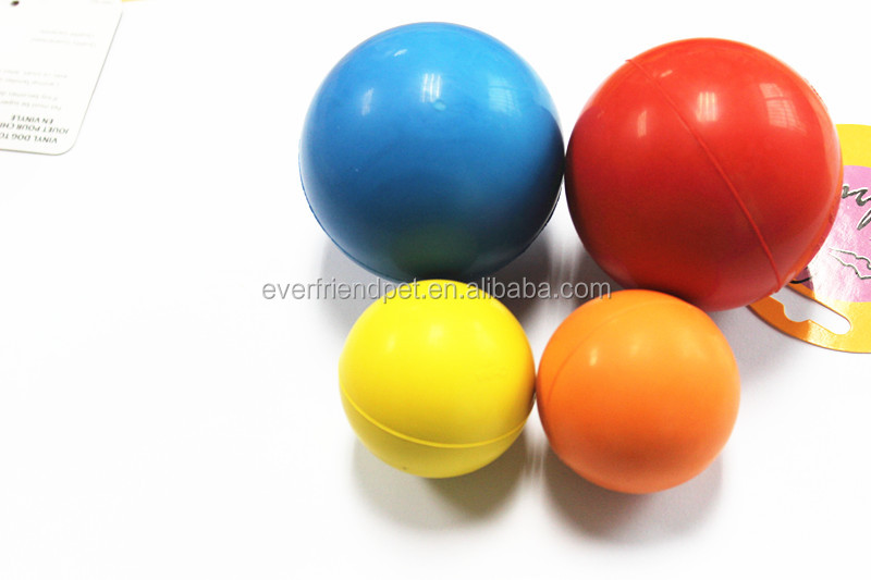 2015 multicolor rubber dog toys bouncing ball for dogs