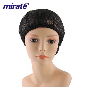 Women Diamond hole mesh cap Soft Rayon Snood sleeping Hair Net Woven Cap Black