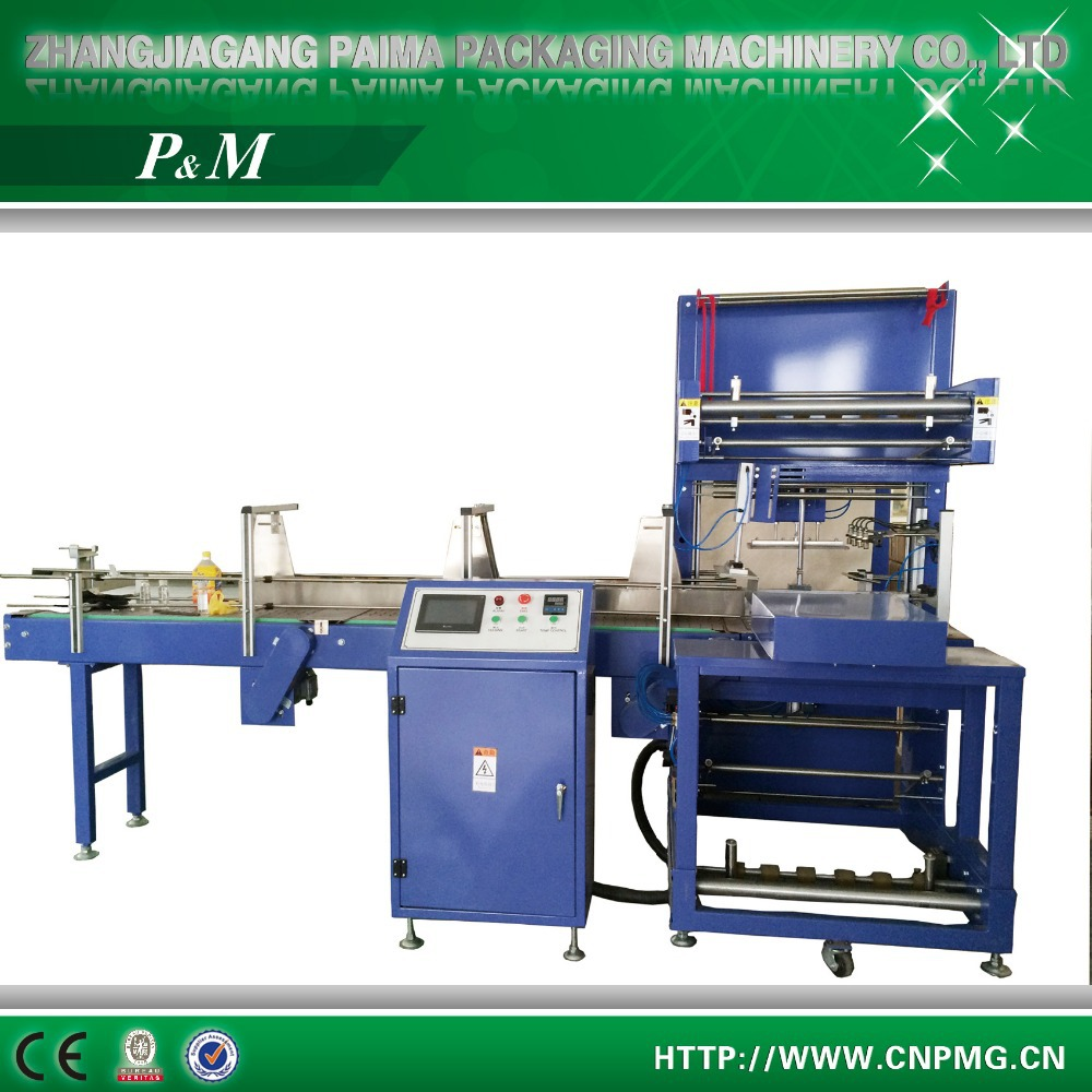 Automatic Heat stretch film Shrinking Packing Machine plastic wrapping machine