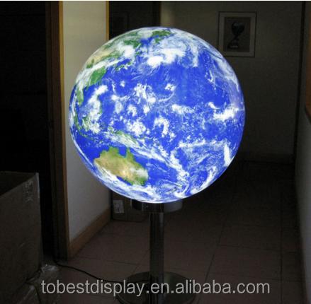 Hor Sale Unique Design Acrylic Plastic Led Globe