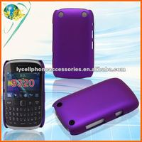 Hot Purple Color Plastic Cover For BlackBerry Curve 9220/9320 Rubberized Clip On Hard Back Case