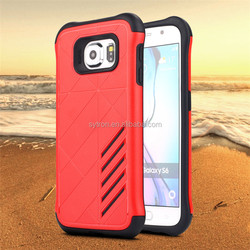 Hybrid armor heavy duty 2 in 1 Silicone+PC cover protective scratch-resistance case for samsung s6