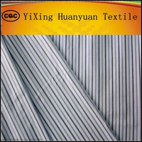 100% cotton black and white stripe fabrics for shirting