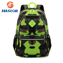 Childrens School Book Bags with Camouflage Patter Printing