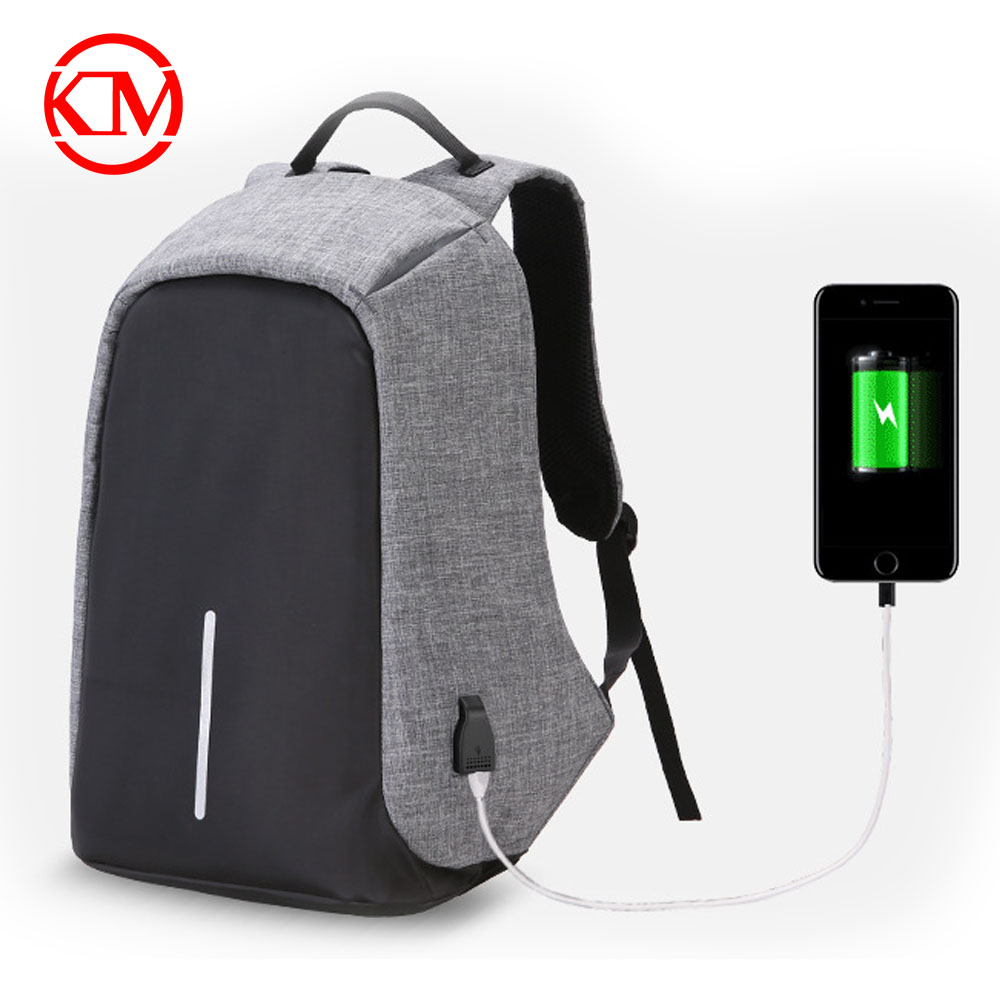 New hot sale wholesale waterproof USB Charging travelling anti theft backpack