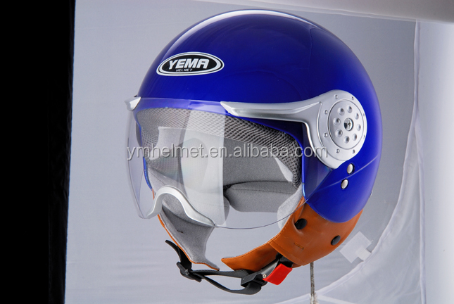 ABS fresh material helmet ECE / DOT approved motorcycle half face helmet (YM-611)