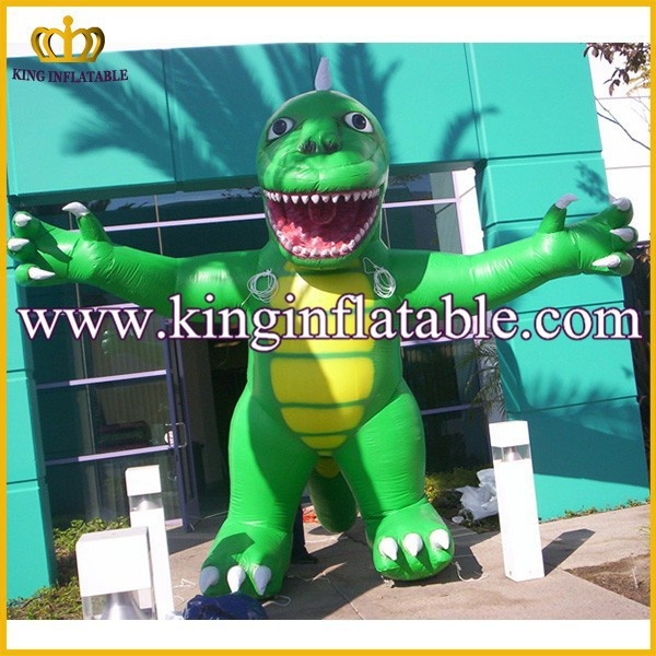 Discount PVC/Nylon Standing Up Large Inflatable dinosaure Model