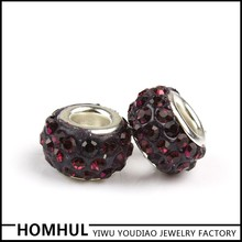 Mix Color Cz Crystal bead, oval shape bead,Red Shamballa Beads