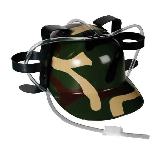 Military Drinking helmet with straws