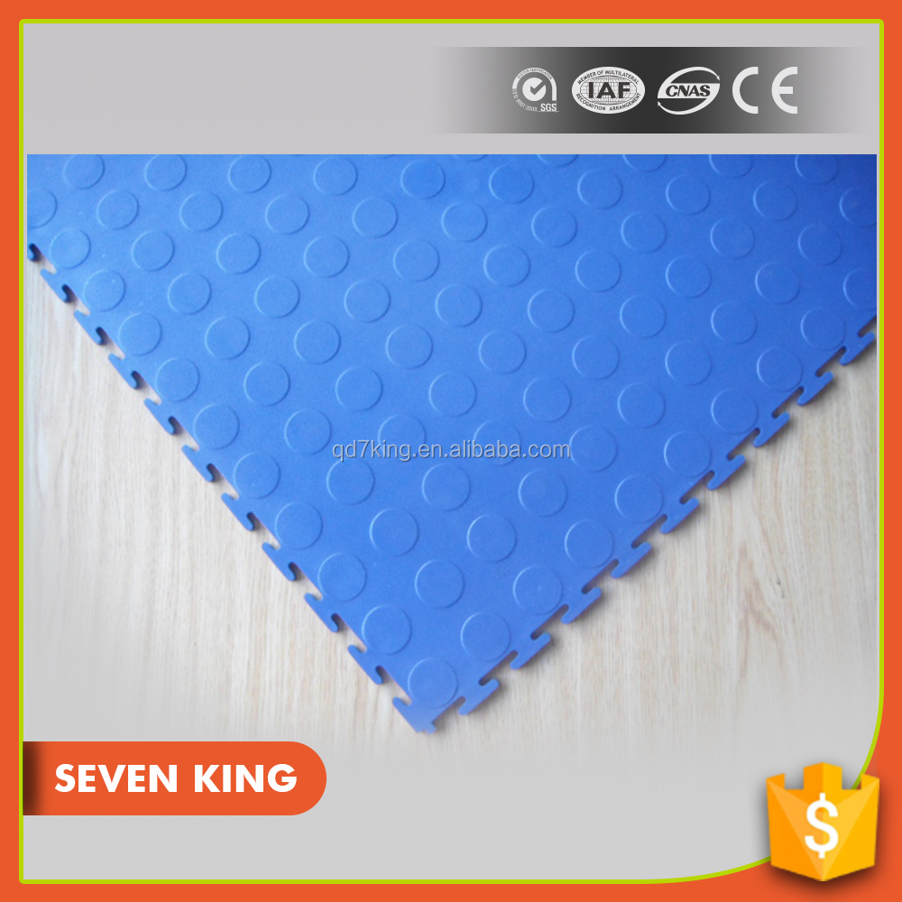 QINGDAO 7KING high quality anti slip heavy duty pvc interlocking large plastic PVC Flooring mat tiles