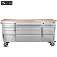 "72"" stainless steel 15 drawers Rolling Workbench/Tool Chest with Anti-fingerprint Paint"