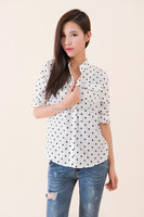 polka dot blouses top selling products 2015 clothing manufacturers blouses 2015 woman shirt ladies trendy tops and blouses shirt