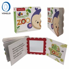 High quality children board book printing child book with mirror paper