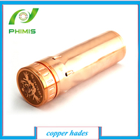 2014 hot selling products copper hades mod,hades stainless and copper nemesis mod clone chi you mod clone