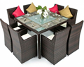 outdoor royale dining table and chairs