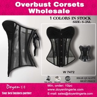 Special design see through steel boned wholesale corset 5 mins shaper