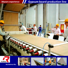 plasterboard production line for power plant/China top manufacturer gypsum board machine( hot air/hot oil)