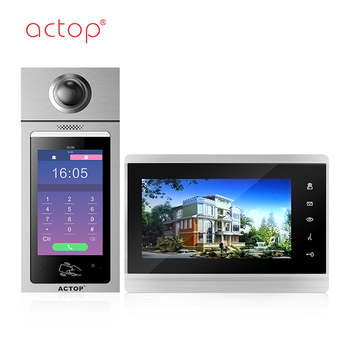Shenzhen smart security alarm product multi-apartment IP/SIP video door phone for building