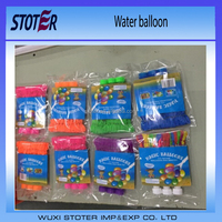 5 inch size assorted colors water game using latex balloon