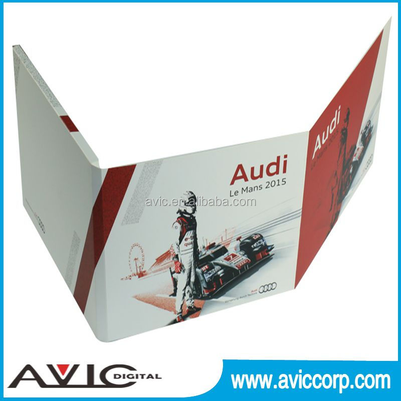 Customized 4.3'' Advertisement video greeting card, video in print