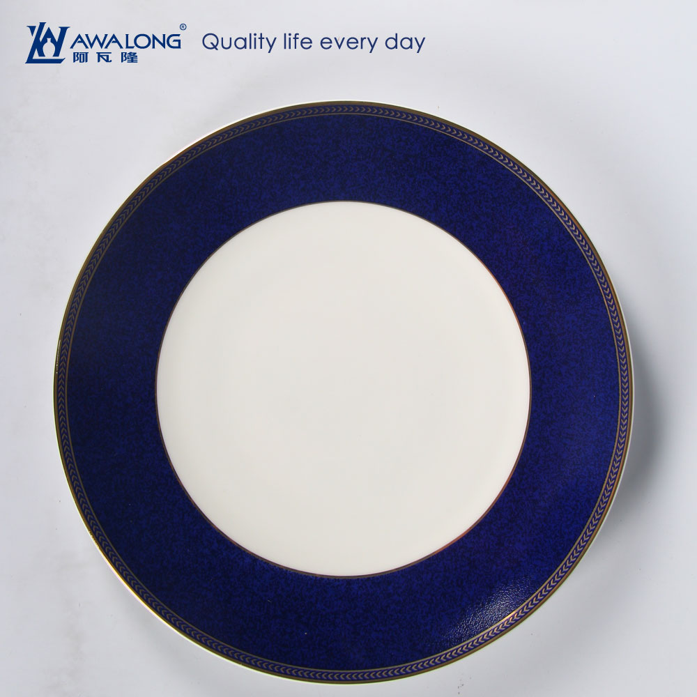 2016 Elegant luxury custom design health dishwasher safe ceramic dinner plate