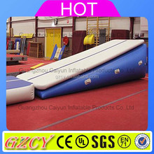Inflatable gym air track with incline air ramp for gymnastics