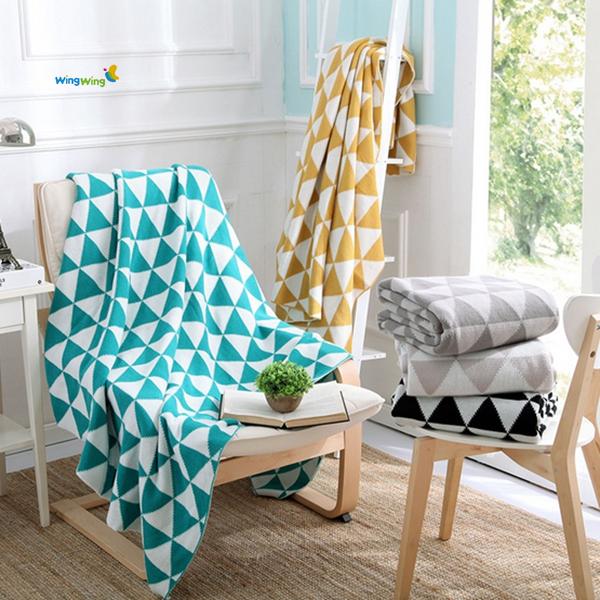100 baumwolle gestrickte babydecke chevron baumwolle. Black Bedroom Furniture Sets. Home Design Ideas
