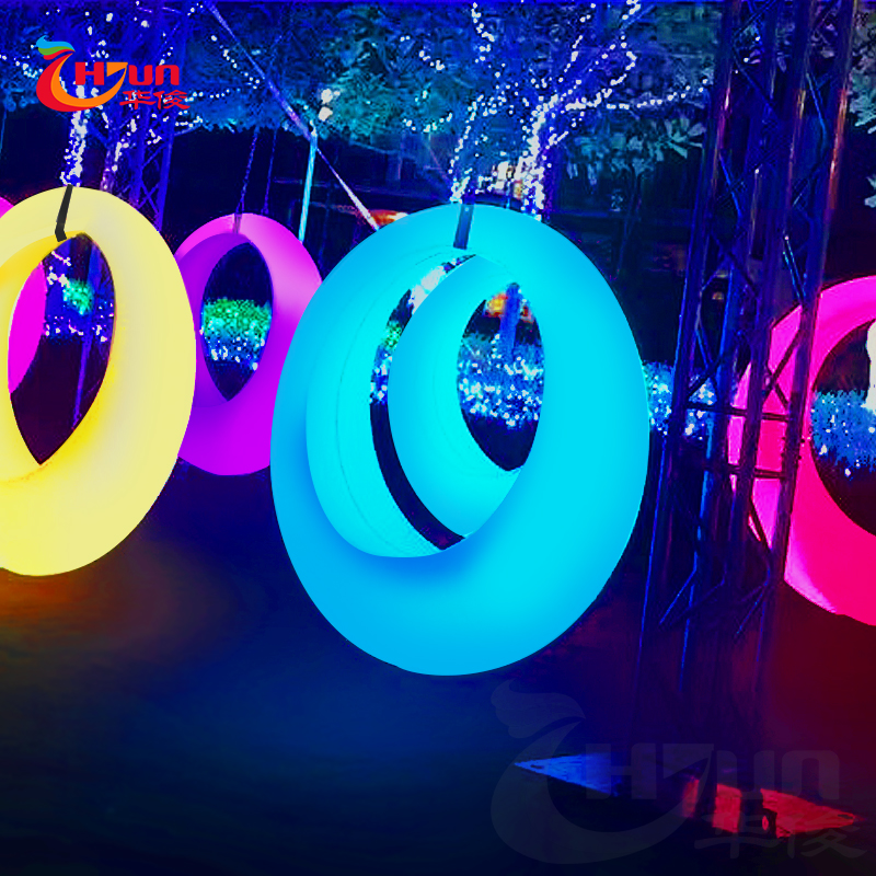 2018 hot selling strong plastic outdoor illuminated led swing for kids