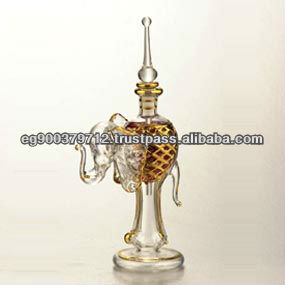 Hand blown glass perfume bottles