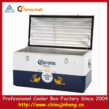 95L corona extra promotional metal outdoor corona wine beverage locking cooler camping box--logo printing available