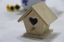 Custom small house shaped decorative wooden bird houses prefabricated wood houses
