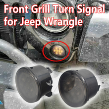 China lowest price!newest smoke sliver led front grill turn light led turn signal light for Jeep wrangler turn light for jk jeep