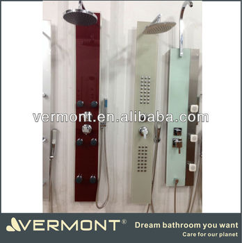 modern design glass wall shower panel VTS-G708