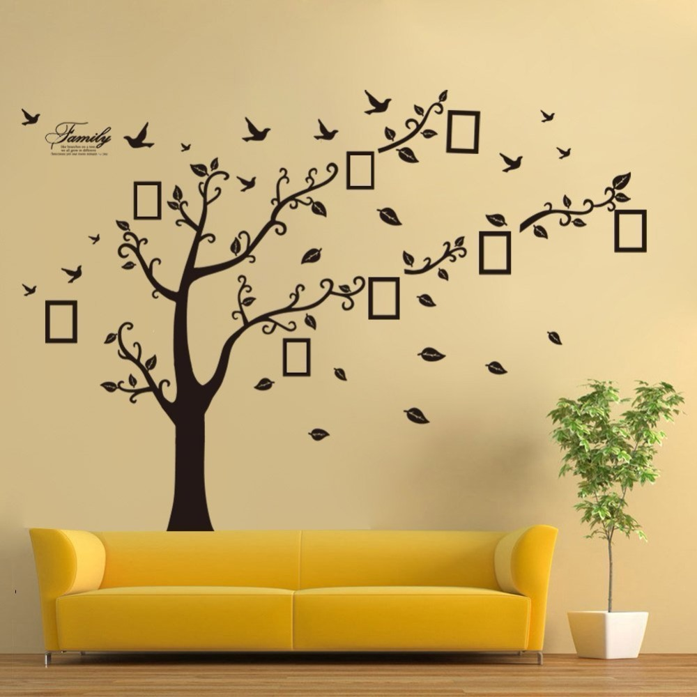 Home Decoration Family Memory Tree Wall Decal Poster,Living Room Art ...