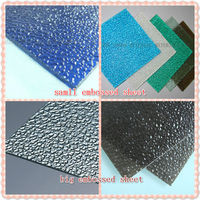 Pc embossed sheet polycarbonate plastic factory ,diamond shape embossed sheet,