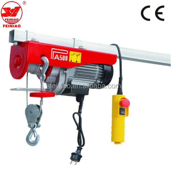 Pa Lifting Equipment Single Phase Wire Rope Motor Mini