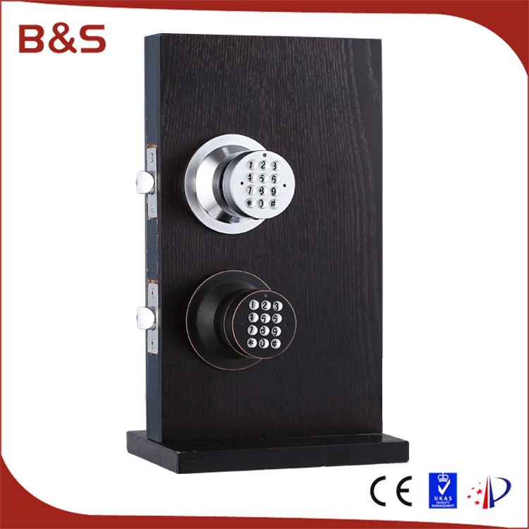 New design double keyless digital password electric door lock for wooden door