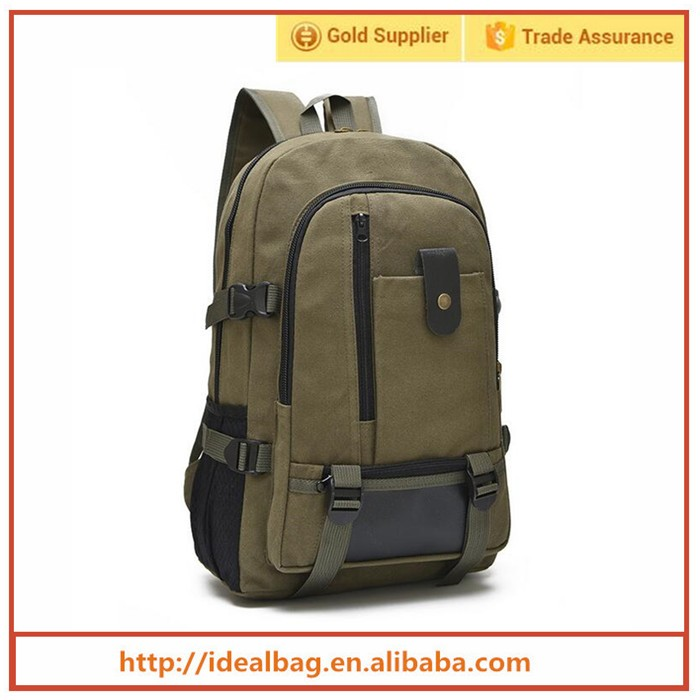 Hot sale popular shoulder bag canvas backpack for men,leisure outdoor travelling backpack,student school backpack bag