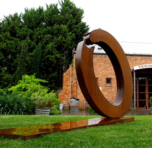 2015 modern art garden decor garden corten steel sculpture