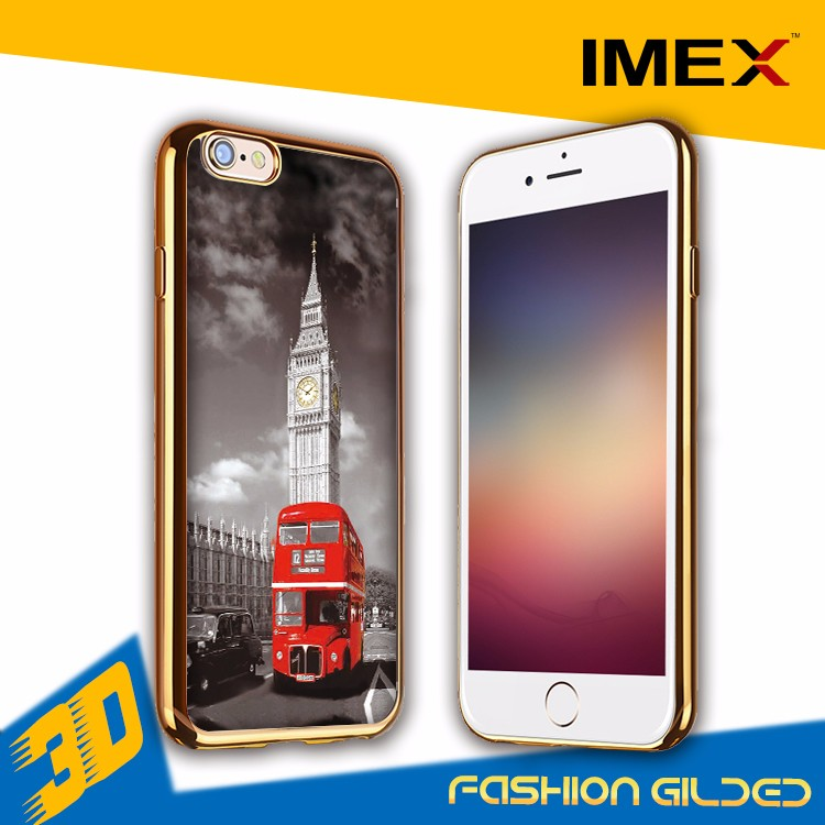 3D Printable polymer phone case Sublimation Blank case for iPhone 7 3d sublimation phone covers cases blanks