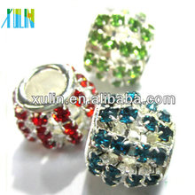 XULIN copper round crystal rhinestone spacer beads 12mm PP02