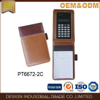 2016 office stationery portfolio document pocket folder leather writing pads,pocket tablet,PU cover notebook for calculator