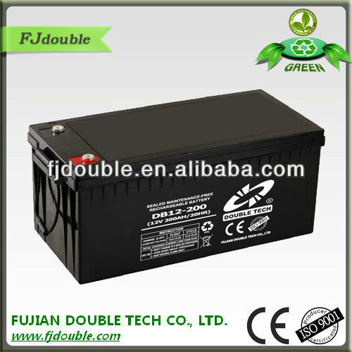 12 volt battery,12v 200ah wind power storage battery with factory price