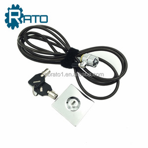 Black zinc alloy laptop/tablet/cell phone cable lock