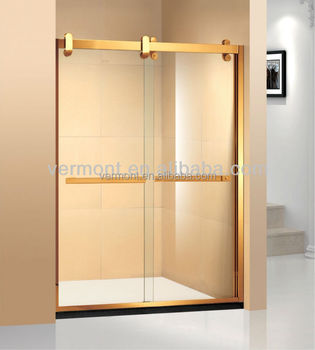Luxury aluminum frame shower door