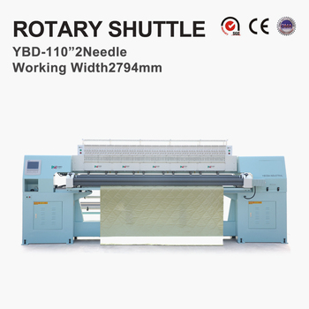 YBD110-6 Computerized large rotary shuttle multi-needle quilting machine