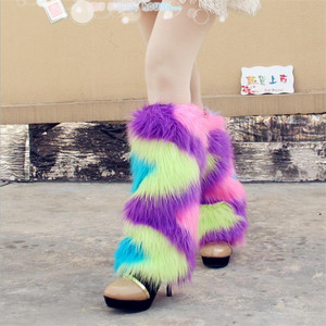 Heated Fur Boot Cuff fluffy furry women faux fur leg warmers