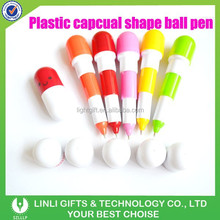 Cute Professional Colorful Plastic Capsule Ballpoint Pen,Capsule Pen,Retractable Pen