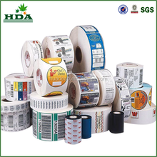 2015 high quality custom vinyl roll bottle label stickers printing
