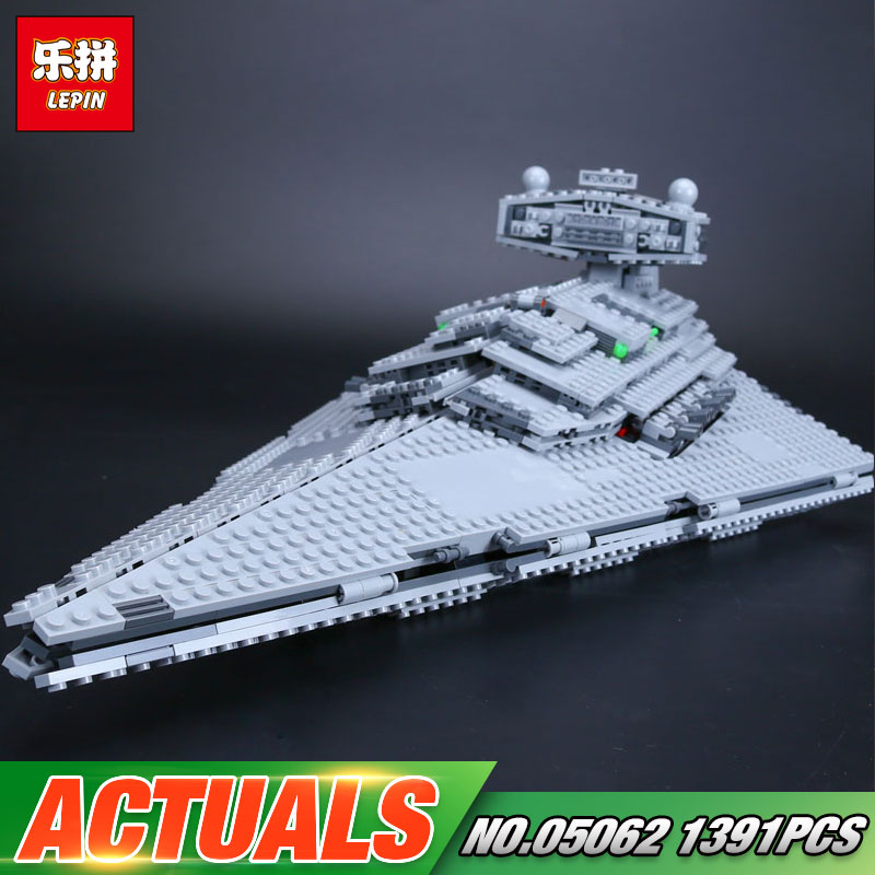 Lepin 05062 Star Series War The Super Star Fighting Destroyer Set Educational Building Blocks Bricks Compatible Toy Gift 75055